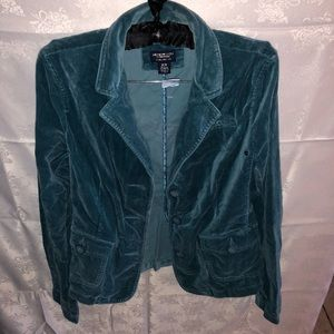 American Eagle Teal Women's Suede Jacket; Size M